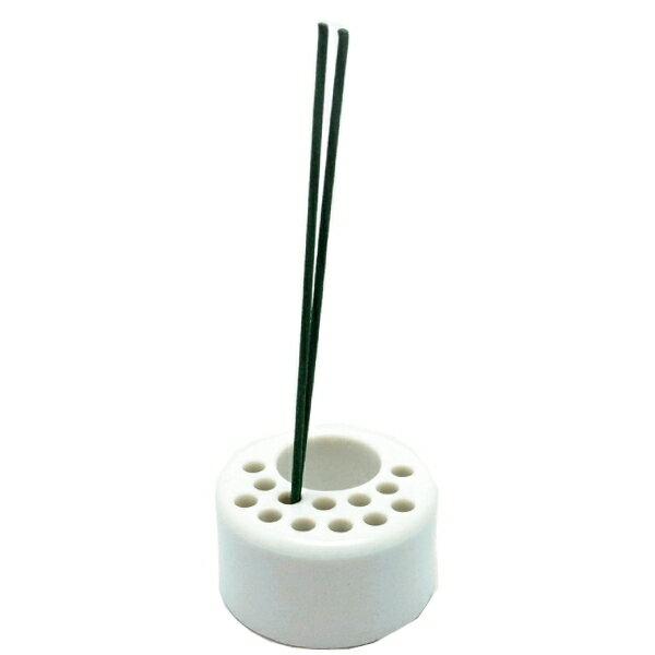 お墓用線香立て セラミック製 香炉用 丸型(No.60)タイプ サイズ:小