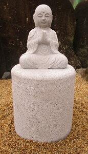 【墓石用品】【現品限り】「丸彫お地蔵さま」台石付