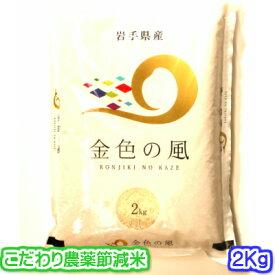 【話題の新品種・特別栽培米】30年産 岩手県 金色の風(こんじきのかぜ) 2キロ入り