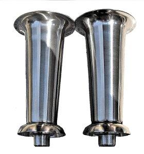 お墓 花立 花筒 大型 ネジ式 ステンレス 花筒 ボウフラ防止銅板加工 一対(二本) 国産品 接着セメント付き 花立て 墓小物