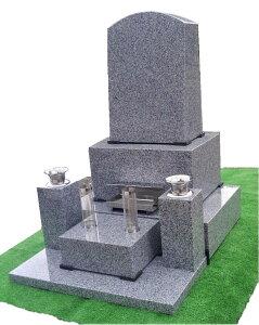 墓石 石碑 青御影石 洋墓頭丸 石碑 一式(文字彫入・運送・据え付け・ステンレス備品・納骨所(カロート除く)等全てを含む) 墓石 墓 施工日応相談