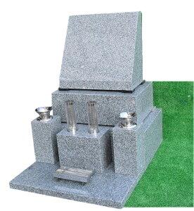 墓石 石碑 青御影石 【洋型】石碑 一式(文字彫入・運送・据え付け・ステンレス備品・納骨所等全てを含む) 墓石 墓 施工日応相談