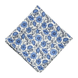 リバティプリント シルクコットンハンカチ 日本製 綿100% 58×58cm Astell Reece ブルー 【LIBERTY PRINT リバティ プリント コットン 絹 ギフト プチギフト 引越 挨拶 内祝 お礼 お返し 退職 ハンカチマスク 】
