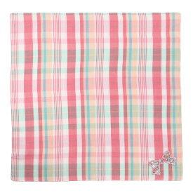 【 インターモード ユージング リバティ 】ガーゼ ハンカチ リボン ピンク