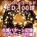 新LEDイルミネーション電飾 100球(シャンパンゴールド)クリスマスライト クリスマスイルミネーション いるみねーしょん