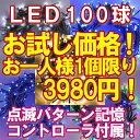 お試し価格 新LEDイルミネーション電飾100球(1人1個限定)クリスマスライト クリスマスイルミネーション いるみねーしょん売れ筋