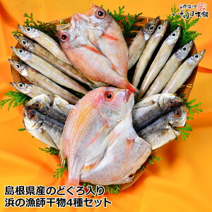 送料無料 お誕生日 ギフト プレゼントのどぐろ 浜の漁師干物セットのど黒 ( ノドグロ 赤むつ )・祝い鯛 ( れんこ鯛 )・沖ぎす・あじセット国産 近海魚 島根 干物 詰合せ セット内祝い 母の日