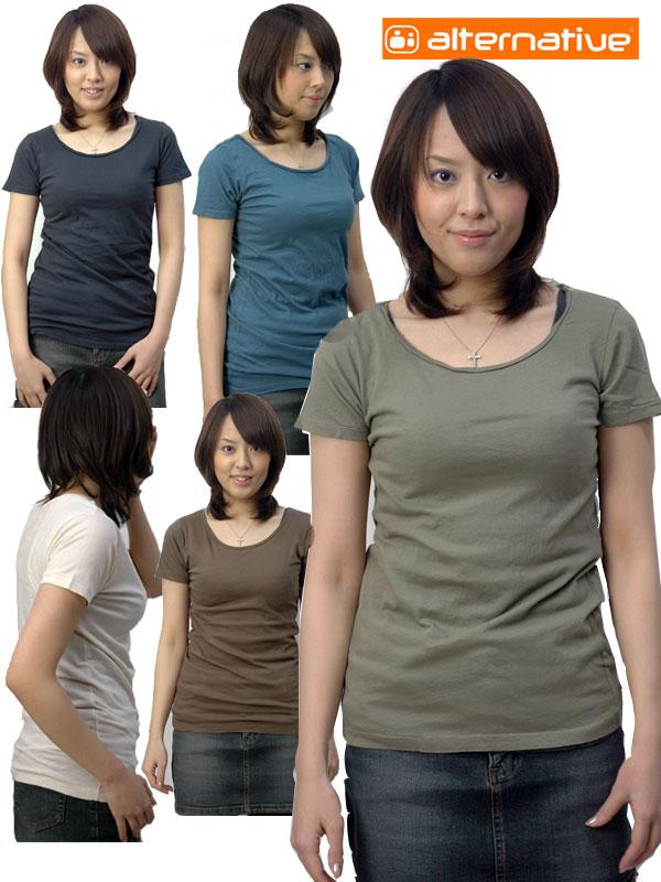 オルタナティブアパレル Tシャツ ALTERNATIVE APPAREL レディース