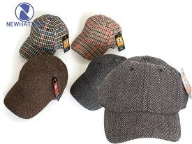 NEWHATTAN ニューハッタン ウール/アクリル ブレンド キャップ チェック柄 Wool Acrylic Blend Cap