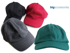 BIG ACCESSORIES ビッグアクセサリーズ ウール キャップ メンズ レディース WOOL BASEBALL CAP