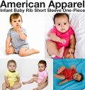 アメリカンアパレル アメアパ ロンパース【American Apparel】Infant Baby Rib Short Sleeve One-Piece ベビーリブ シ…