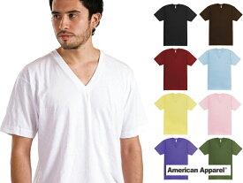 アメリカンアパレル Vネック Tシャツ American Apparel Made in USA