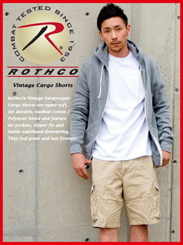 ロスコ Rothco ハーフパンツ カーゴパンツ ショートパンツ 迷彩 Vintage Paratrooper Cargo Shorts