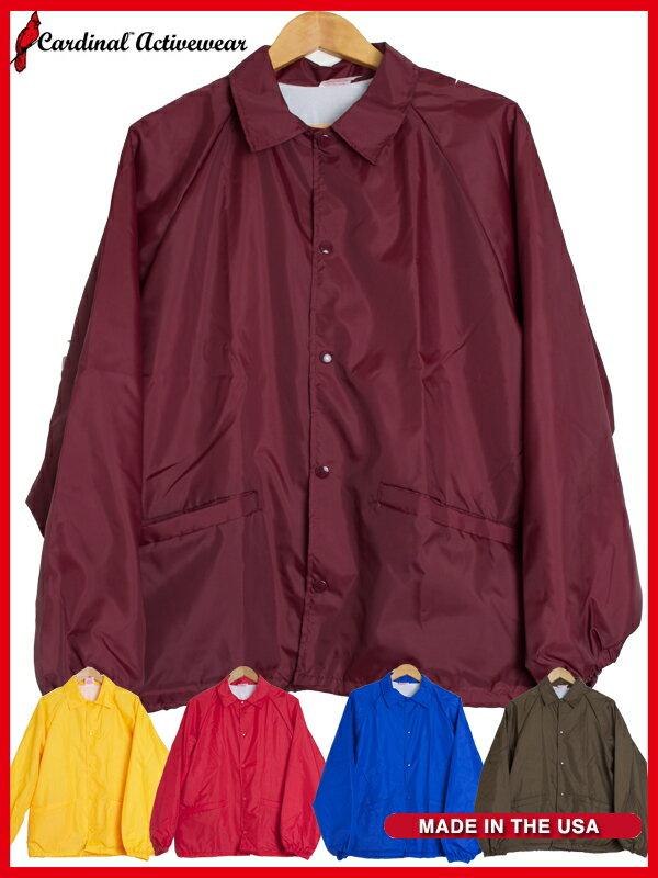 Cardinal Activewear カーディナル コーチジャケット Made in USA デッドストック