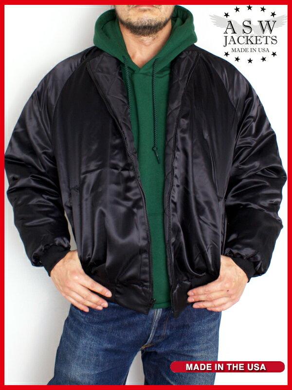 ASW Z164 サテン ジャケット ナイロン 中綿入り メンズ & レディース