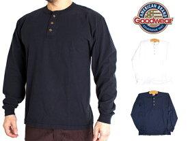 グッドウェア 長袖 ヘンリーネック Tシャツ Goodwear Long Sleeve Henley Heavyweight Jersey