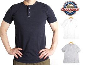 グッドウェア GOODWEAR ヘンリーネック Tシャツ