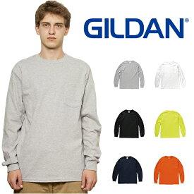 ギルダン GILDAN 長袖 ロングスリーブ ポケット Tシャツ メンズ S〜XLサイズ #2410 Ultra Cotton 6.0 oz ロンT