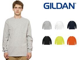 ギルダン GILDAN 長袖 ポケット Tシャツ メンズ S〜XLサイズ #2410 Ultra Cotton 6.0 oz Long Sleeve Pocket T-Shirt