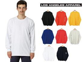 fe0f88f0316428 LOS ANGELES APPAREL ロサンゼルスアパレル 長袖 Tシャツ クルーネック メンズ レディース L/S Grmnt