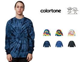 colortone カラートーン タイダイ 長袖 Tシャツ Rainbow & Spider Long Sleeve Tee