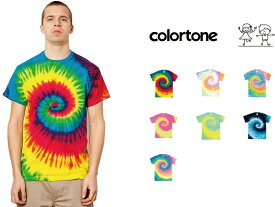 colortone カラートーン タイダイ Tシャツ Rainbow & Multicolor Tee