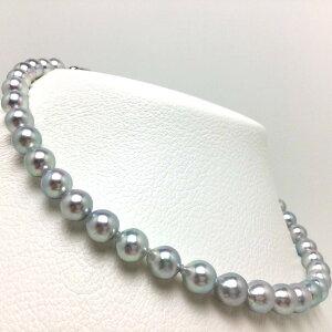 真珠 ネックレス パール ナチュラルカラー アコヤ真珠 8.5-9.0mm セミバロック シルバー クラスップ 66369 イソワパール