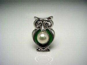 真珠 タイニーピン パール アコヤ真珠 5-5.5mm ホワイトピンク 真鍮 動物 鳥 53918 イソワパール