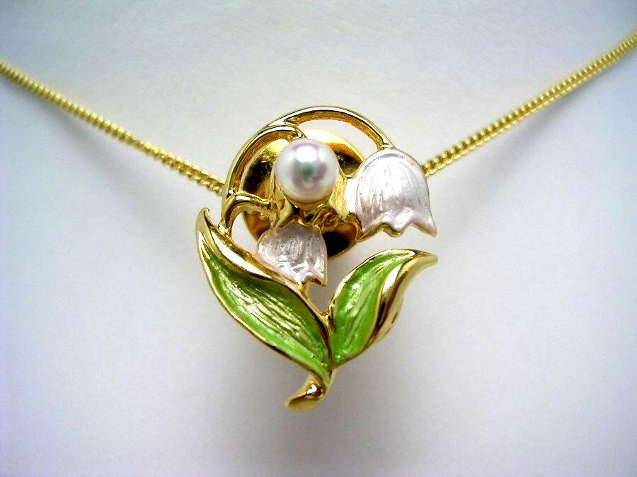 アコヤ真珠 タイニーピン 4-5mm ホワイトピンク 真鍮 植物 フラワー 55421 イソワパール