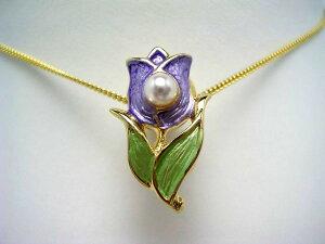 真珠 タイニーピン パール アコヤ真珠 4-5mm ホワイトピンク 真鍮 植物 フラワー 55423 イソワパール