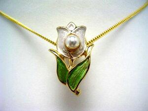 真珠 タイニーピン パール アコヤ真珠 4.0-5.0mm ホワイトピンク 真鍮 植物 フラワー 55426 イソワパール