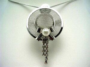 真珠 タイニーピン パール アコヤ真珠 5.5-5.75mm ホワイトピンク 真鍮 56420 イソワパール