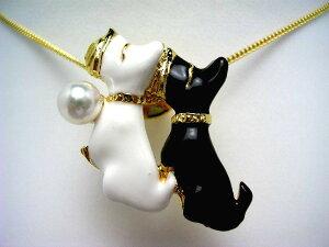 真珠 タイニーピン パール アコヤ真珠 5.75-6.0mm ホワイトピンク 真鍮 動物 猫 56709 イソワパール