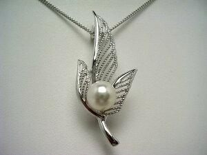 真珠 ブローチ パール アコヤ真珠 8.0mm ホワイトピンク シルバー ウィング 59691 イソワパール