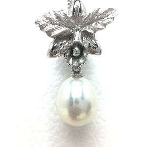 真珠 タイニーピン パール 淡水真珠 9.3×10.0mm ホワイト シルバー 67260 イソワパール