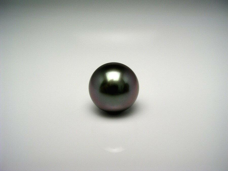 黒蝶真珠 ネクタイピン 9.9mm ミドルグリーン Pt900 プラチナ 針 真鍮 キャッチ 52830 イソワパール