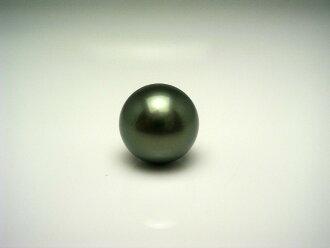 黑蝴蝶珍珠領帶別針11.2mm中間綠色Pt900白金針黄銅捕捉62729 isowaparu