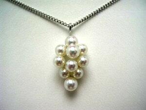 真珠 ペンダントトップ パール アコヤ真珠 3.5-4.5mm ホワイトピンク K18 ホワイトゴールド 果物 52916 イソワパール