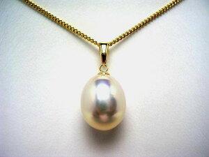 真珠 ペンダントトップ パール 淡水真珠 10.3×12.7mm メタリックホワイトピンク K18 イエローゴールド 53723 イソワパール