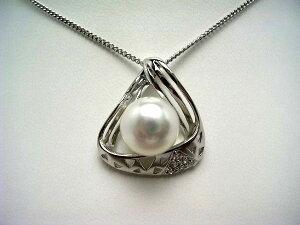 真珠 ペンダントトップ パール 淡水真珠 9.5-10.5mm ホワイト シルバー 55646 イソワパール