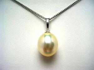 真珠 ペンダントトップ パール 淡水真珠 9.9×11.5mm メタリックホワイトピンク K18 ホワイトゴールド 56753 イソワパール