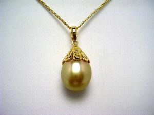 真珠 ペンダントトップ パール 白蝶真珠 11.7mm ゴールド(ナチュラル) シルバー 60001 イソワパール