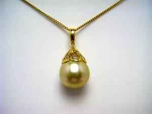 真珠 ペンダントトップ パール 白蝶真珠 12.1mm ゴールド(ナチュラル) シルバー 62841 イソワパール