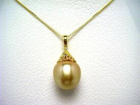 真珠 ペンダント パール 白蝶真珠 14.4mm ゴールド(ナチュラル) シルバー 64577 イソワパール