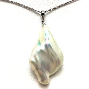 真珠 ペンダントトップ パール 淡水真珠 21.8×40mm ホワイトピンク K14 ホワイトゴールド 66028 イソワパール