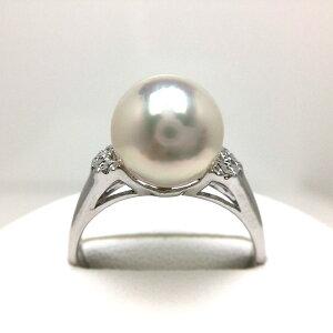 真珠 リング パール アコヤ真珠 9.0-9.5mm ホワイトピンク シルバー 46323 イソワパール