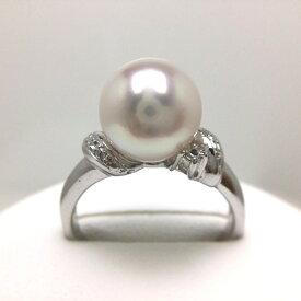 真珠 リング パール アコヤ真珠 9.0-9.5mm ホワイトピンク シルバー 64815 イソワパール