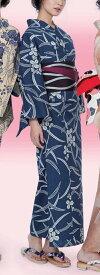 浴衣(ゆかたyukata) 源氏物語浴衣(ゆかた) みゆき紬 手縫い仕立て付き 20085 綿100% (染色方法・注染) (仕立て無しの反物のみも可) [送料無料]