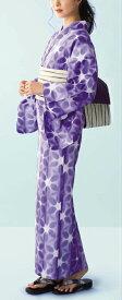 浴衣(ゆかたyukata) 源氏物語浴衣(ゆかた) ゆうなぎ 手縫い仕立て付き 19032 綿100% (仕立て無しの反物のみも可) [送料無料]