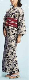 浴衣(ゆかたyukata) 源氏物語浴衣(ゆかた) 麻と綿の布 手縫い仕立て付き 19002 麻30%・綿70% (染色方法・注染) (仕立て無しの反物のみも可) [送料無料]